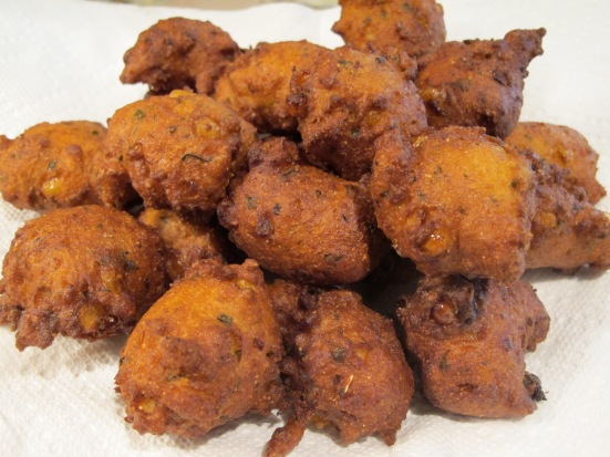 Sweet Corn and Herb Hush Puppies | HaveDessertFirst.com