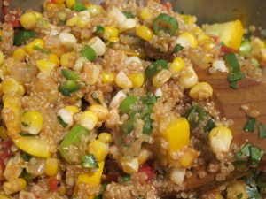 Quinoa Salad with Squash, Corn, and Tomatoes