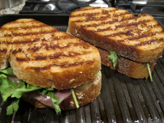 Fig and Pig Grilled Cheese Sandwich